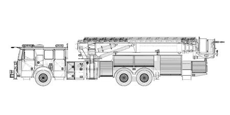 Fire Engine, model, body structure, wire model photo