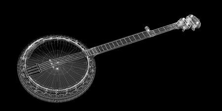 Banjo model  - 5 string, body structure, wire model photo
