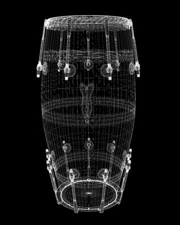Djembe Drum Groove , body structure, wire model photo