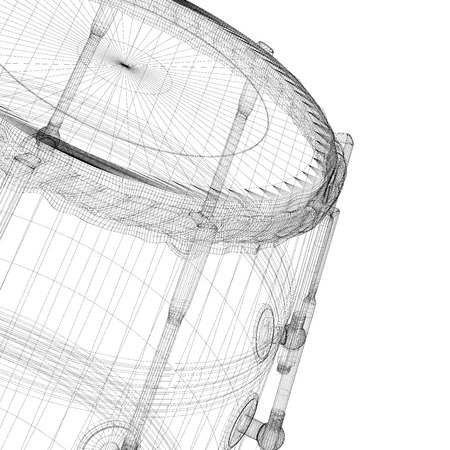 groove: Djembe Drum Groove , body structure, wire model