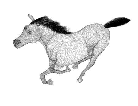 hoofed mammal: Running Horse