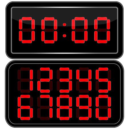 digital clock: Digital Clock . Digital Uhr Nummer. Vektor illustration Illustration