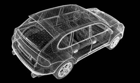 sleeping car: Car 3D model