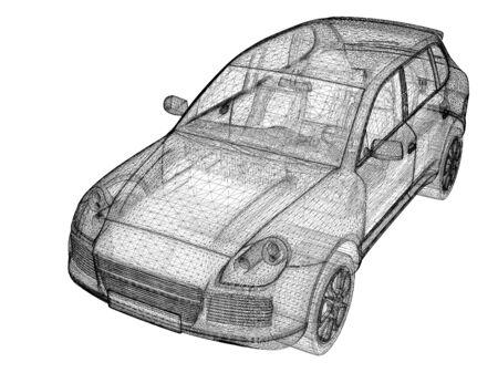 provide: Car 3D model