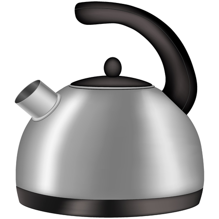 boiling water: kettle for boiling water ,  vector  illustration