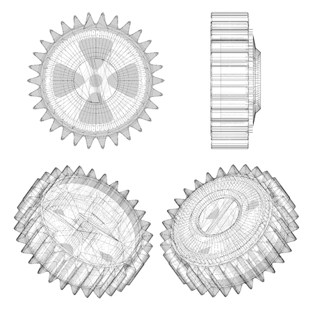 coupling: gear machine coupling isolated on a background
