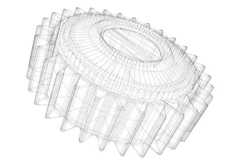 gear machine coupling isolated on a background
