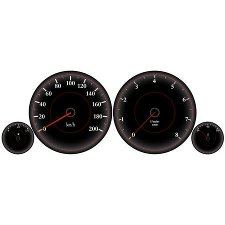 dashboard: speedometer, Car dashboard, High Speed, Sport Car Speedometer Illustration