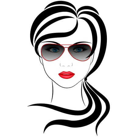 'one woman only': fashionable girl,  vector illustrations on a white background
