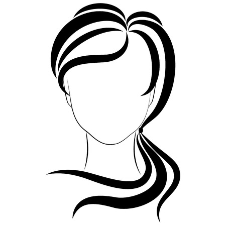 fashionable girl: fashionable girl,  vector illustrations on a white background