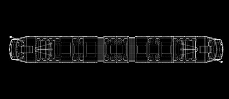 agglomeration: tram , body structure , wire model