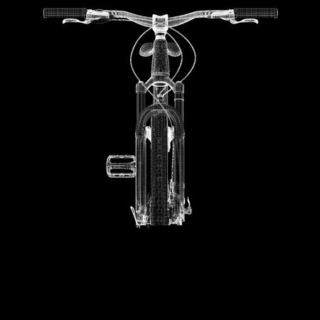 body structure: Mountain Bicycle 3D model, body structure , wire model
