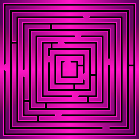 complicated journey: Pattern of round design elements labyrinth on background