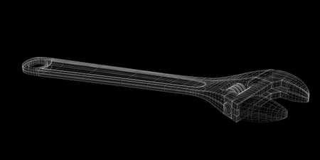computer repairing: versatile multifunctional wrench as a wireframe model