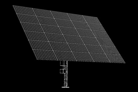 Design support with solar panels isolated on background