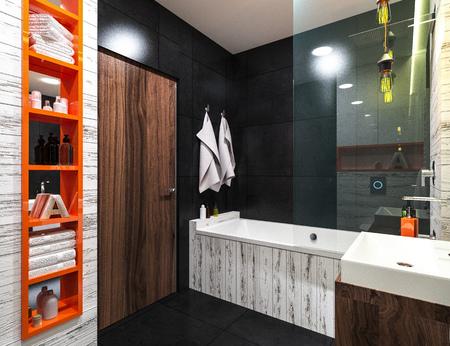 building feature: modern design of a bathroom