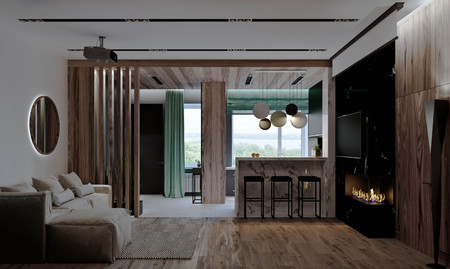 stylish modern interior of the house, apartment