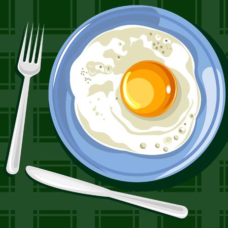 fritto: Le uova fritte