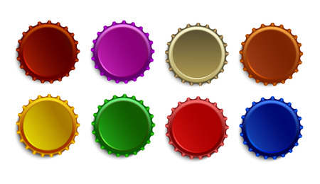 Bottle caps set.