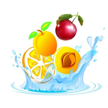 Fruit in the water
