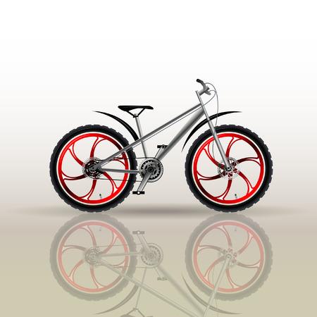 Mountain sports bike. Tuning. Bicycle parts.