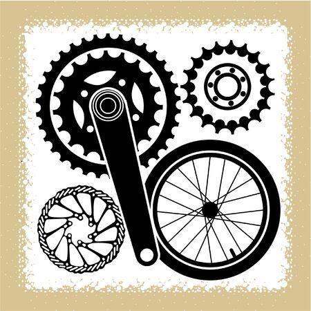 bicycle parts Çizim