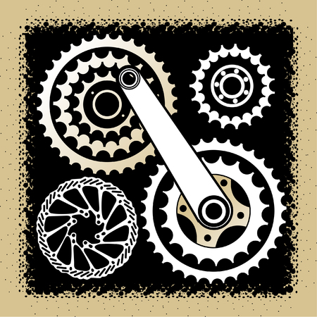 bicycle parts Illustration