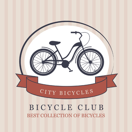 titanium: Bike. Vector banner with a downhill bicycle. Cycling club.