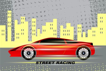 Street racing.