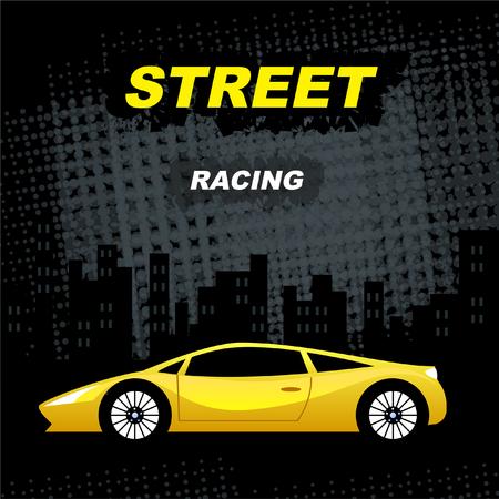 street racing Ilustração
