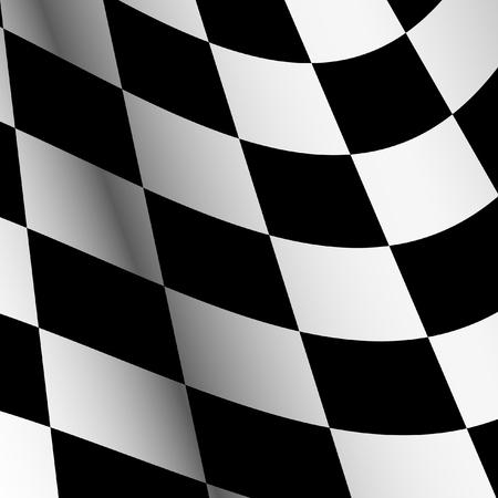 Starting flag. Auto racing. Motor Racing.