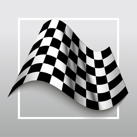 l first: Start and finish flag. Auto Moto racing competitions.