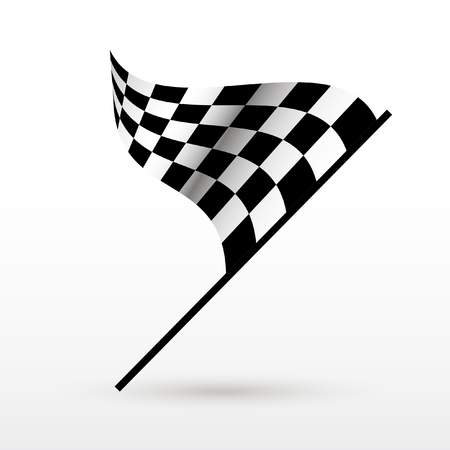 Start and finish flags. Auto Moto racing competitions. Çizim