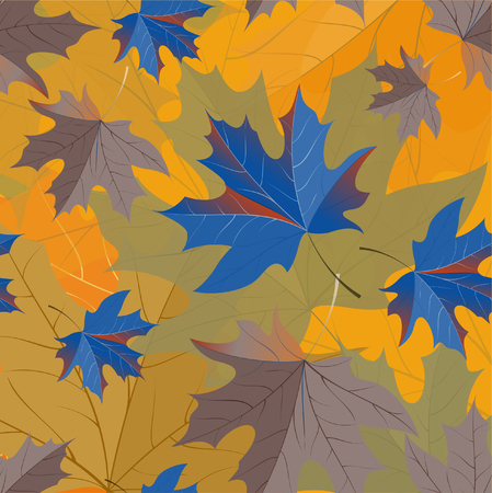 ceo: Autumn pattern with maple leaves. Illustration