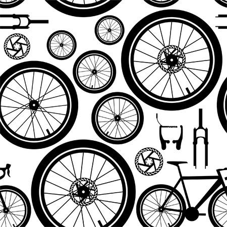 Vélos. Pièces de rechange. Modèle vectorielle continue.