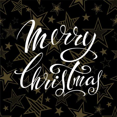 Merry Christmas. Lettering design.