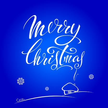 Merry Christmas. Lettering design Çizim