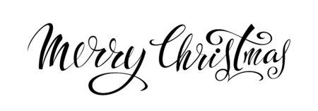 Merry Christmas lettering design Çizim