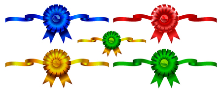 Set of holiday color bows with ribbons to the birthday and celebrations