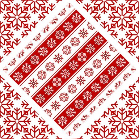 paper background: New Year Christmas pattern with snowflakes