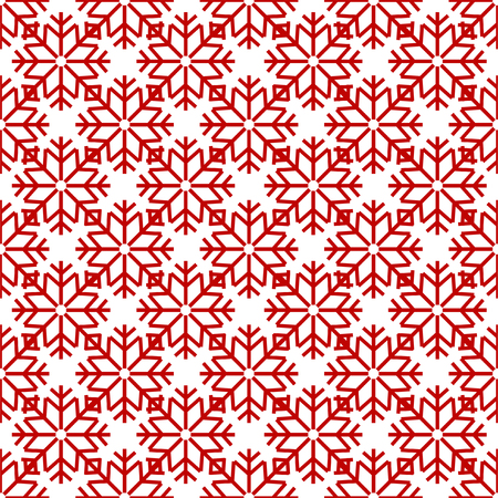 New Year Christmas pattern with snowflakes
