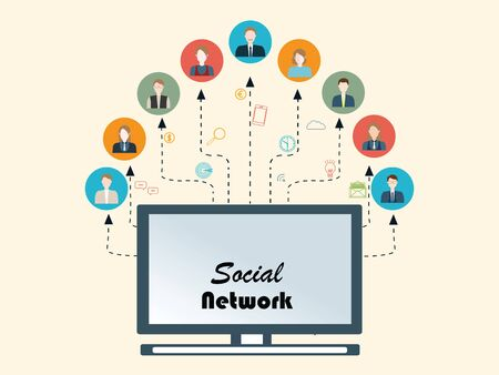 networking people: Social Networking People Conceptual, Vector illustration. Illustration