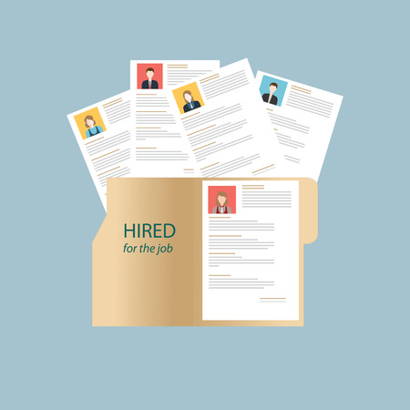 business resources: Human resources design over grey background, conceptual vector illustration.