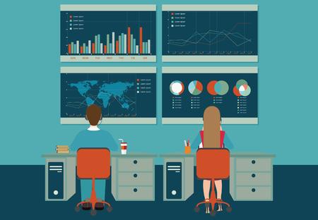 Web analytics, informatie en ontwikkeling, business statistiek, conceptuele vector illustratie. Stockfoto - 49813876