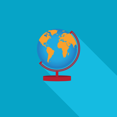 flat earth: Flat Earth Globe icons, vector illustration.