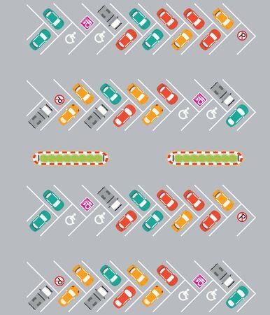 car park: Car park, parking lot , parking zone conceptual Vector Illustration.