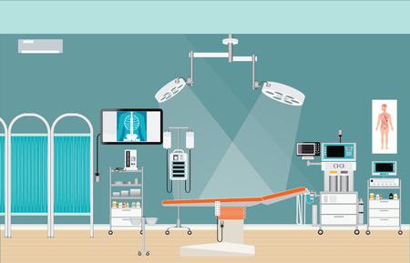 Medizinische Klinik Chirurgie OP Innere im Krankenhaus, medizinische Versorgung Zeichen Vektor-Illustration. Standard-Bild - 61904869