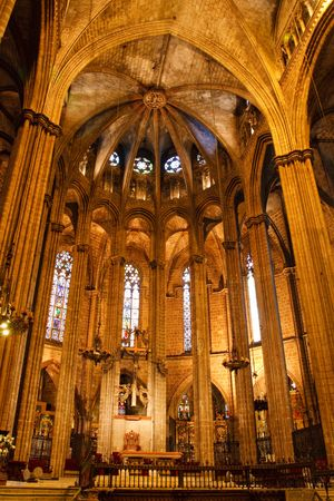 Inside the Cathedral of Santa Eulalia in Barcelona's Barri Gotic district. Stock Photo - 5431556