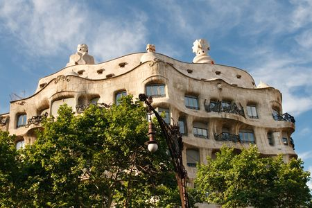 Casa Mila (La Pedrera) by Antonio Gaudí, Barcelona, Spain. Stock Photo