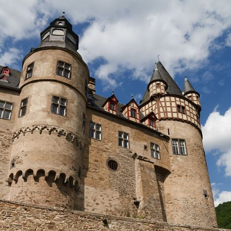The famous Schloss B�rresheim (Burresheim Castle) is located in the Eifel area in Rhineland-Palatinate, Germany, near the town of St. Johann (Mayen). photo
